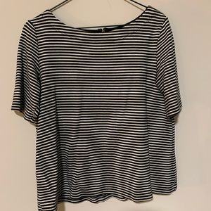 Gap brand striped blouse with zipper